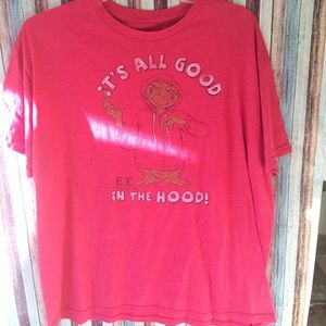 Et red vintage look tee men's